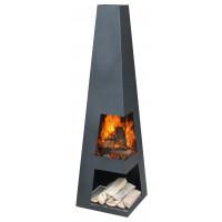 Havepejs i stål - model Malaga Luxe