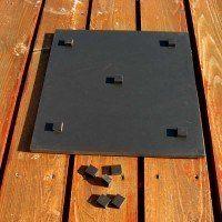 Bundplade til højbede, sort plastik