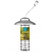 Fatball feeder, foderautomat til mejsekugler, børstet rustfrit stål, 28 cm