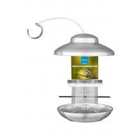 Bird feeder, foderautomat børstet rustfrit stål, 28 cm