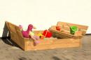 Sandkasse i Lærketræ