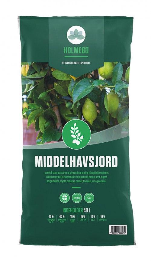 Holmebo Middelhavsjord - 40 liters poser