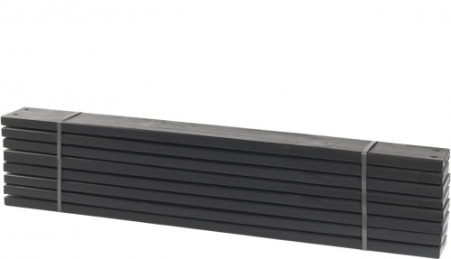 8 stk. planker til Pipe 28x120mm x120cm grundmalet sort