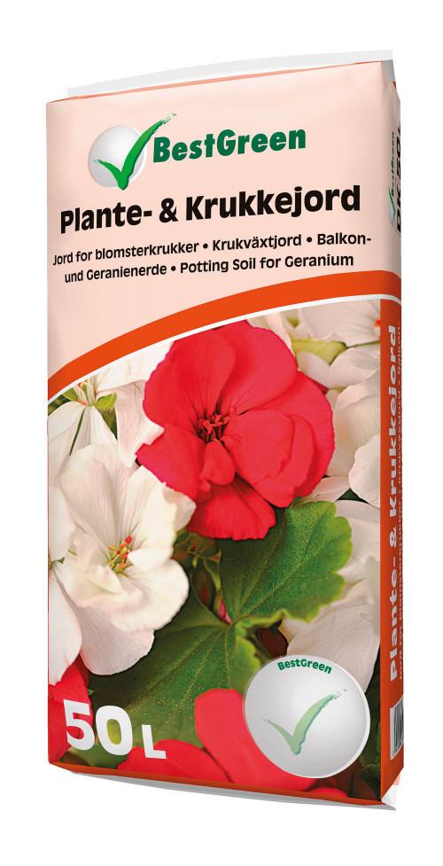 Plante- og krukkejord 50 liter - Bestgreen
