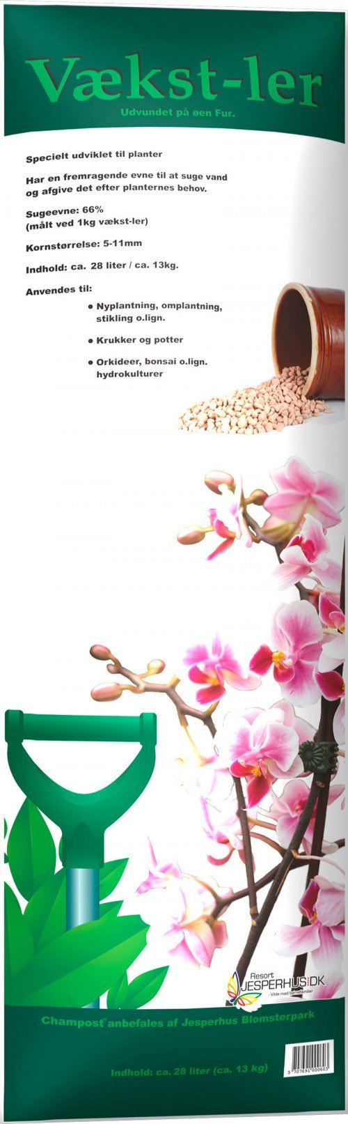 Champost Vækst-ler 5-11 mm. 10-28 liter