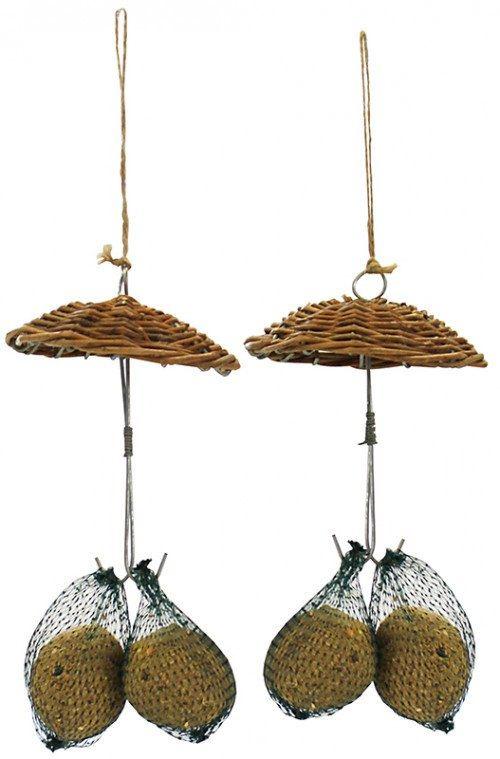 2 stk paraplyer i pileflet med mejsebolde