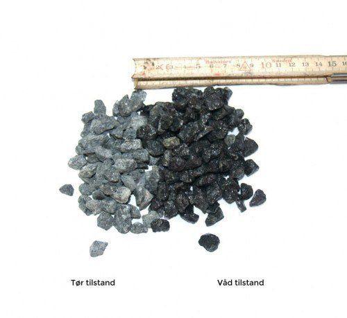 Sort granit, 8-11 mm - bigbag á 1000 kg.